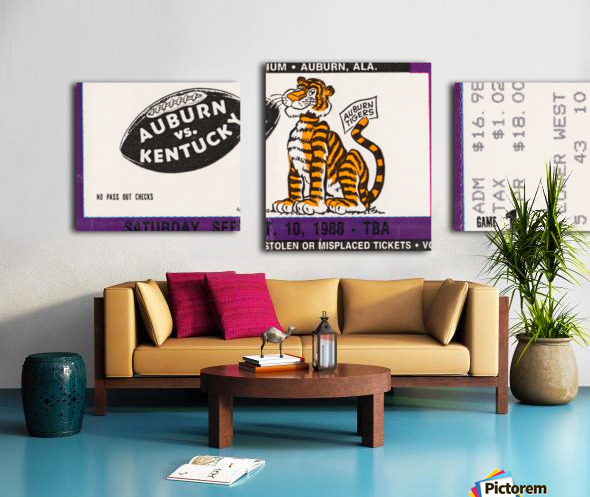 1988 Auburn Tigers vs. Kentucky Wildcats Canvas print