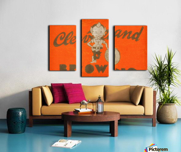 Vintage Cleveland Browns Wall Art Canvas print
