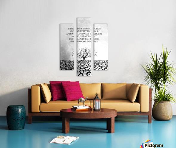 Tobit Parched Land Motivational Wall Art Canvas print