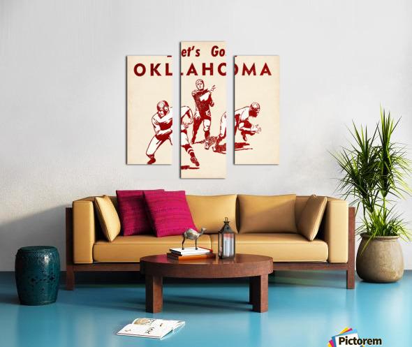 1952 Vintage Oklahoma Football Art Canvas print