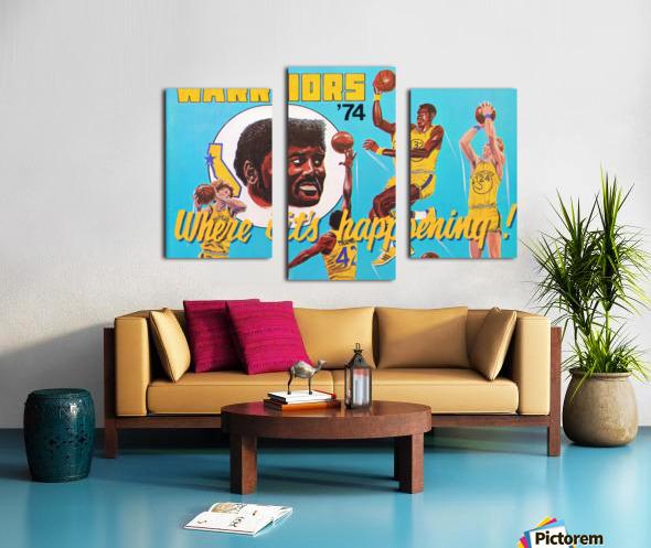 1974 Golden State Warriors Retro Remix Art Canvas print