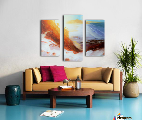 MiraculoussunsetProctorBeach Canvas print