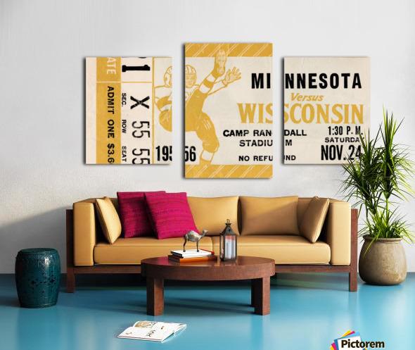 1956 Wisconsin Badgers vs. Minnesota Golden Gophers Canvas print