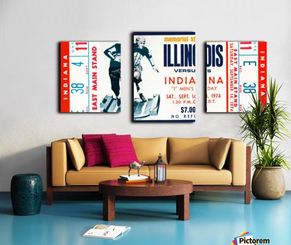 1974 Indiana Hoosiers vs. Illinois Fighting Illini Canvas print