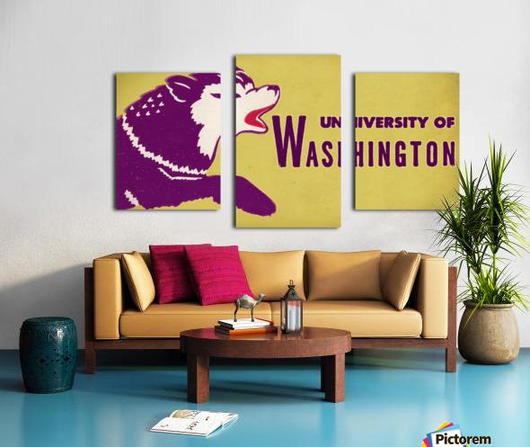 1950 Washington Husky Ticket Remix Art Canvas print