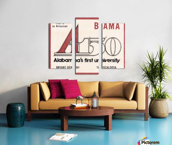 1981 Alabama Football Ticket Stub Art Canvas print