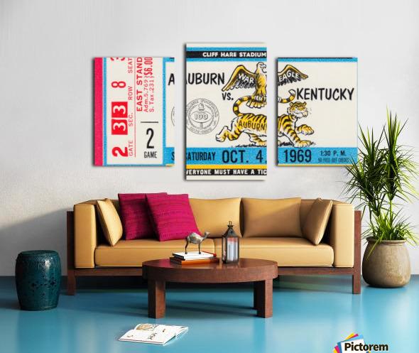 1969 Kentucky Wildcats vs. Auburn Tigers Canvas print