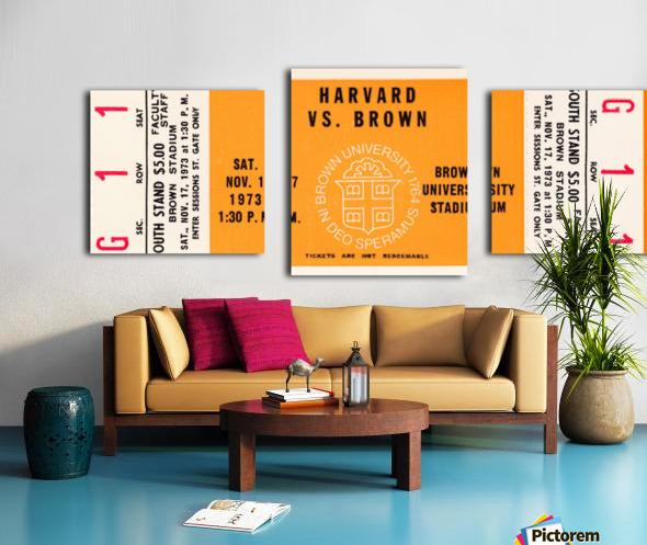 1973 Brown Bears vs. Harvard Crimson Canvas print