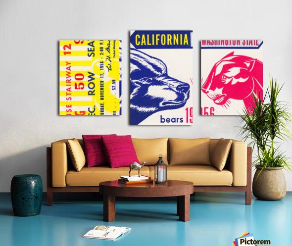 1956 Washington State Cougars vs. Cal Bears Canvas print
