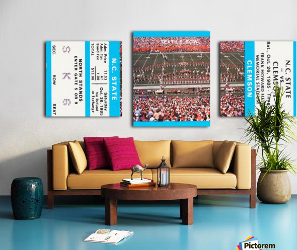 1985 Clemson Tigers vs. NC State Wolfpack Canvas print