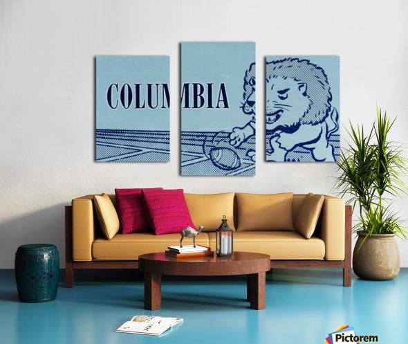 1961 Columbia Lions Football Ticket Stub Remix Art Canvas print