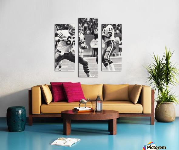 Retro Dallas Cowboys Roger Staubach Photo Art Canvas print