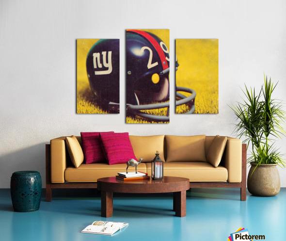 1969 New York Giants Vintage Football Helmet Photo Art Canvas print