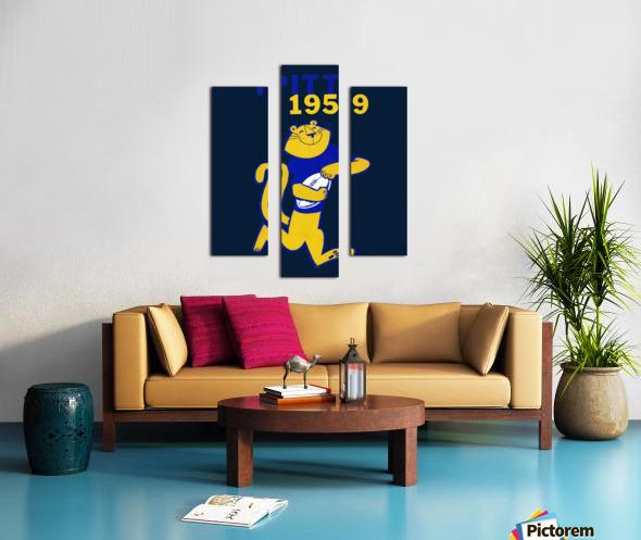 1959 Pitt Panther Vintage Football Art Canvas print
