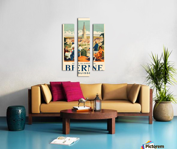Bern, Switzerland Travel Poster Canvas print