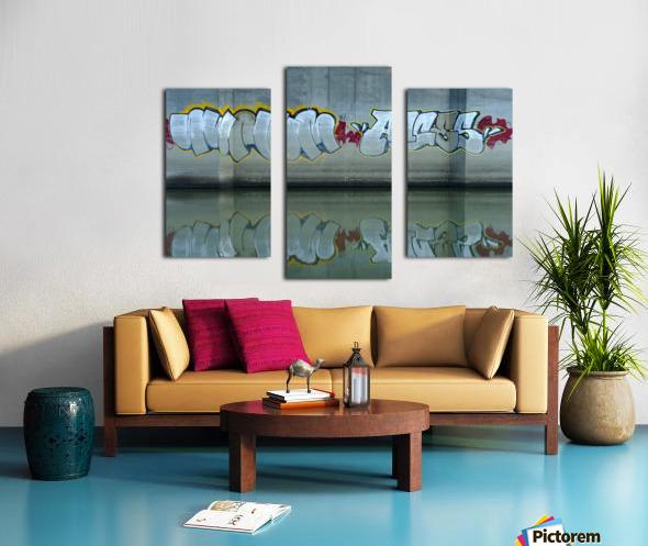 Reflet sous un pont - Reflection under a bridge Canvas print