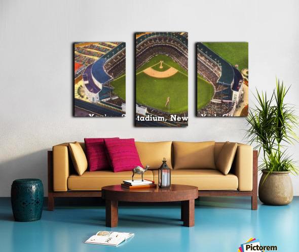 Vintage Yankee Stadium Postcard Art Canvas print