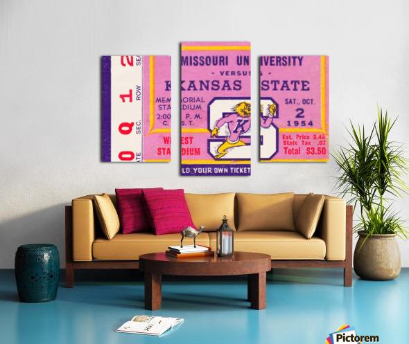 1954 Missouri Tigers vs. Kansas State Wildcats Ticket Stub Art Canvas print
