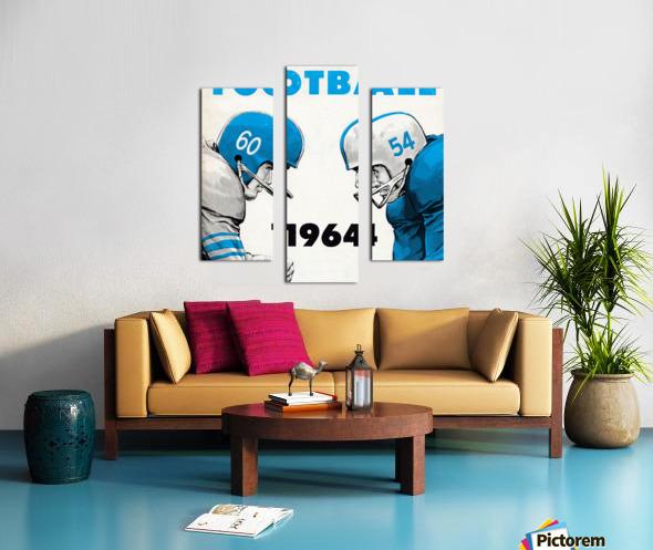 1964 Linemen Football Art Canvas print