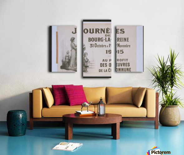 Vintage---Journey-in-France Canvas print