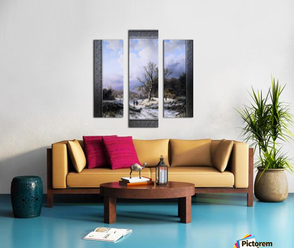 Snow Landscape by Alexander Joseph Daiwaille Classical Art Xzendor7 Old Masters Reproductions Canvas print