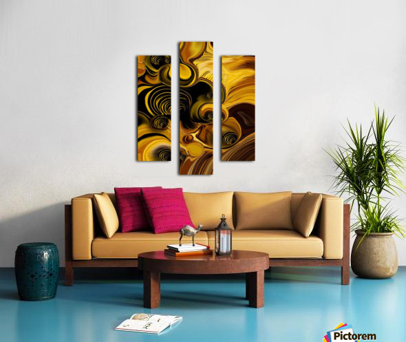 Abstraction with Meditation Canvas print