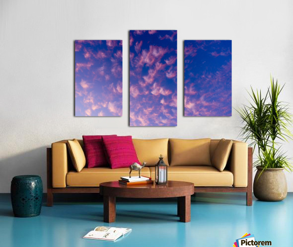 Pink and White Cotton Candy Skies over the Pacific Northwest   Abstract Expressionist Robert Stanek Original Canvas print