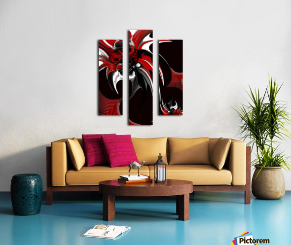 Red & Black Formation Canvas print