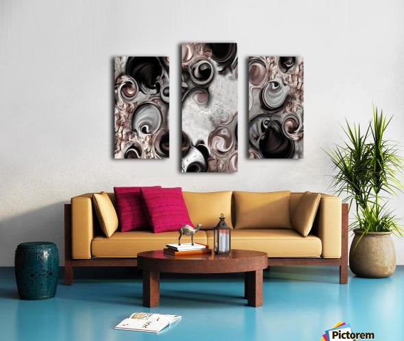 Soft Impression of Dysplastic Departure  Canvas print