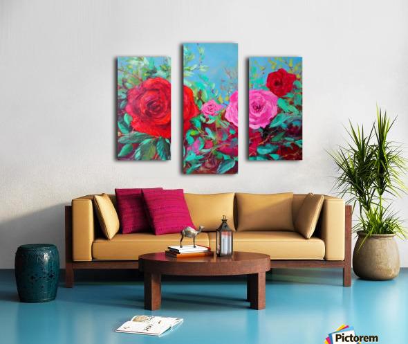 Roses challenge.  Canvas print