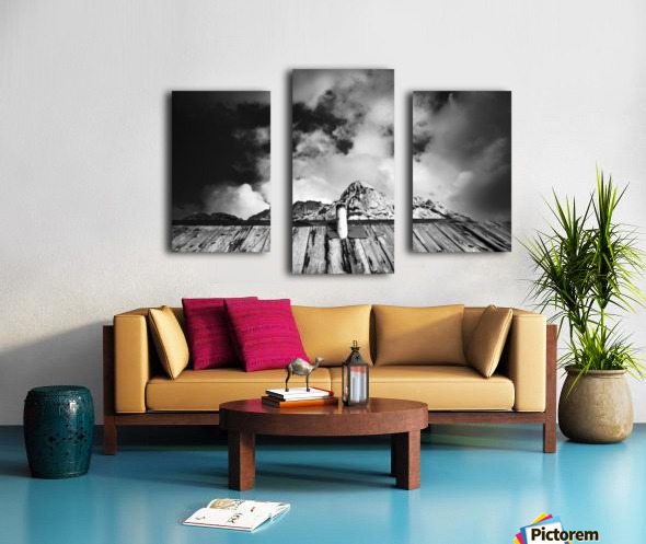 One with mountain Canvas print