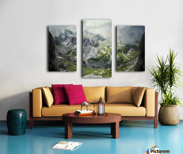 Alpine gates  Canvas print