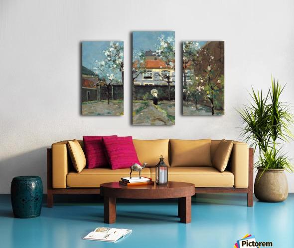 The back garden Canvas print