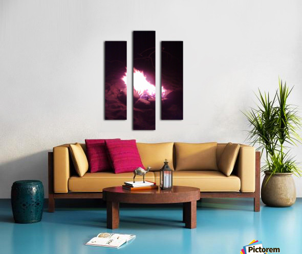 Fired Canvas print