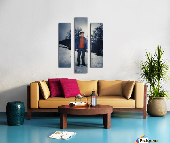 Sunday in winter Canvas print