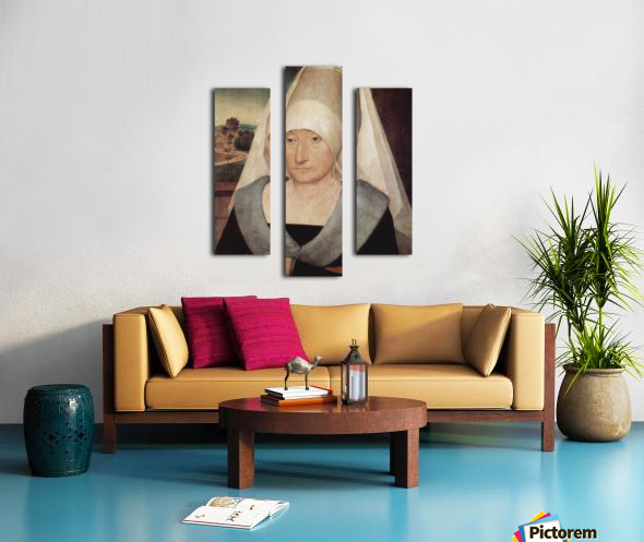 Portrait of an old woman, 1472 Canvas print