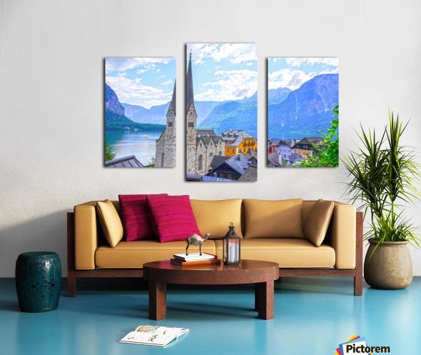 One Fine Day in Hallstatt Austria Canvas print