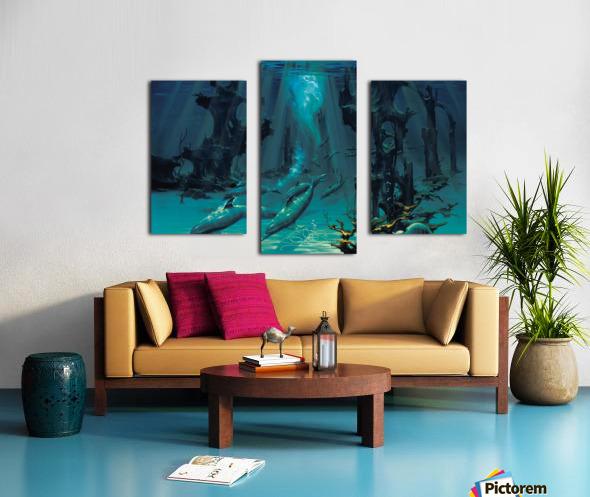 Atlantis Dolphins Canvas print