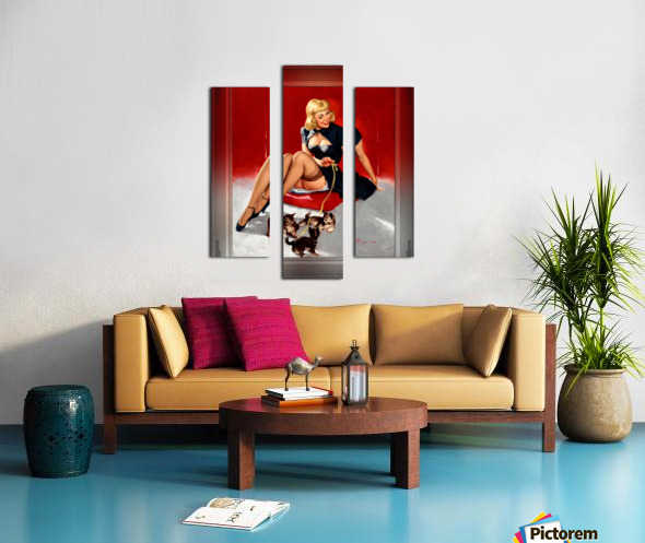 Some Cute Tricks by Gil Elvgren Vintage Xzendor7 Old Masters Reproductions Canvas print