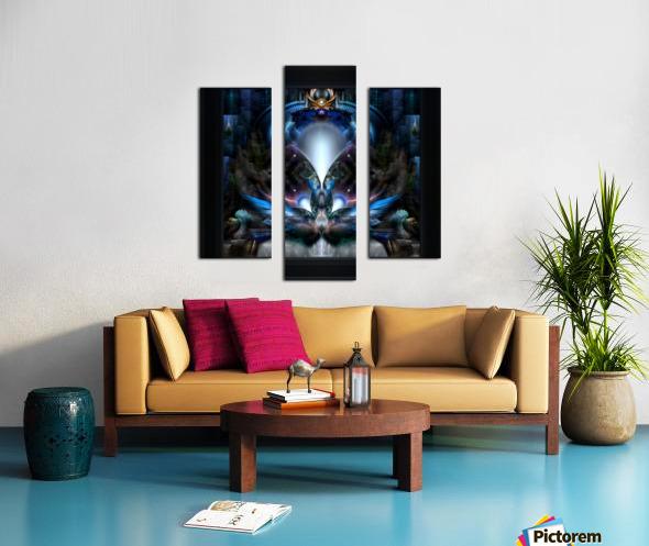 Herald The Light Fractal Wings Digital Art by Xzendor7 Canvas print
