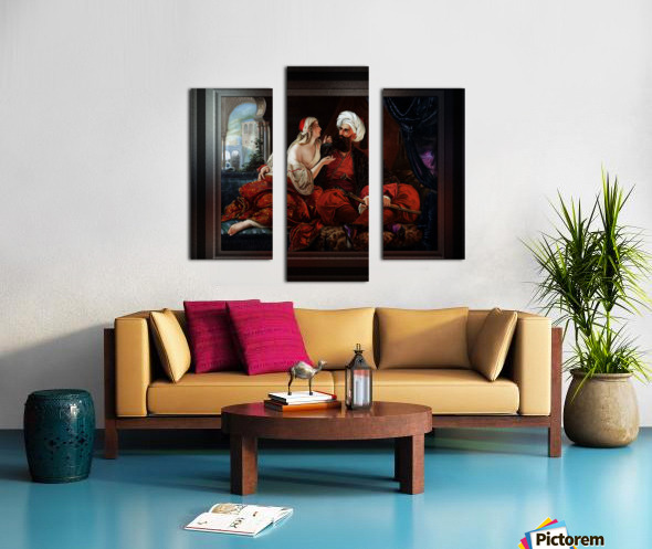 Ali Pasha and Kira Vassiliki by Paul Emil Jacobs Classical Fine Art Xzendor7 Old Masters Reproductions Canvas print