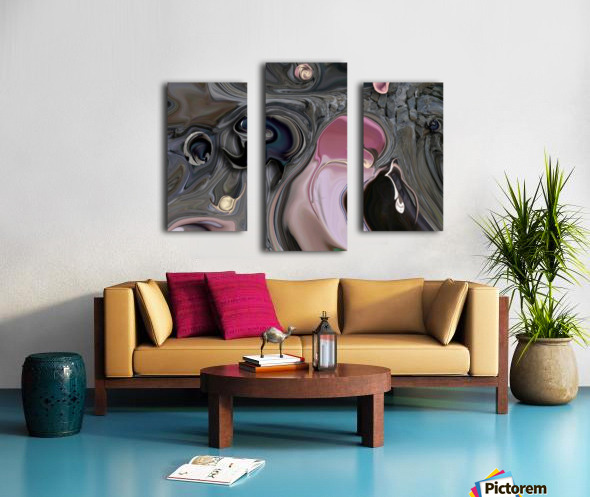 Mystic Experience Constructed Canvas print