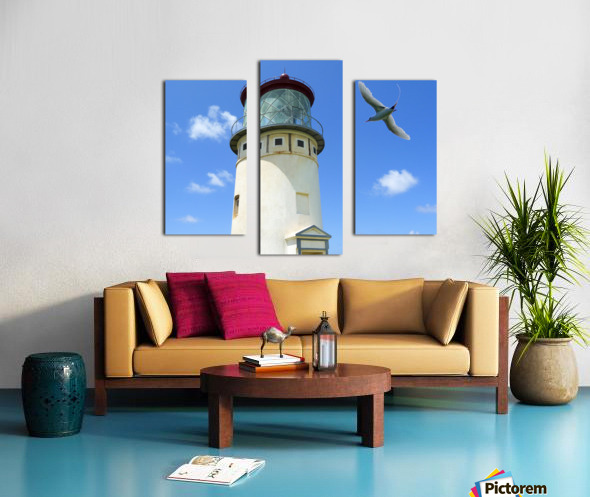 Kilauea Lighthouse and Wildlife Refuge on Kauai Canvas print