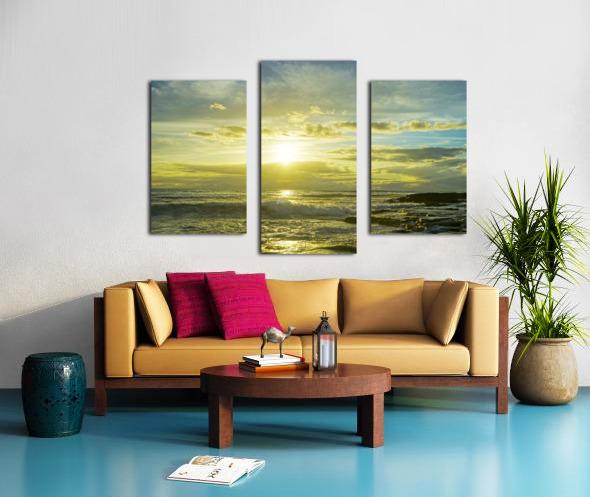 The Sun Sets at the Tidal Pools Hawaii Canvas print