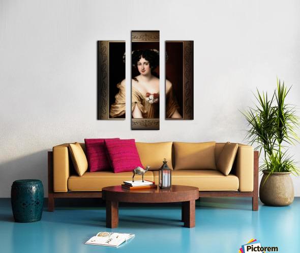 Portrait of Contessa Ortensia Ianna Stella by Jacob Ferdinand Voet Classical Fine Art Xzendor7 Old Masters Reproductions Canvas print