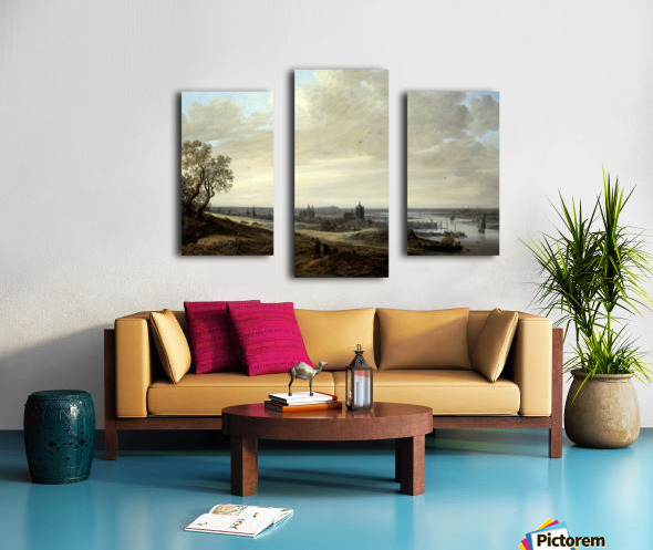 Panorama Landscape with a View of Arnhem Canvas print