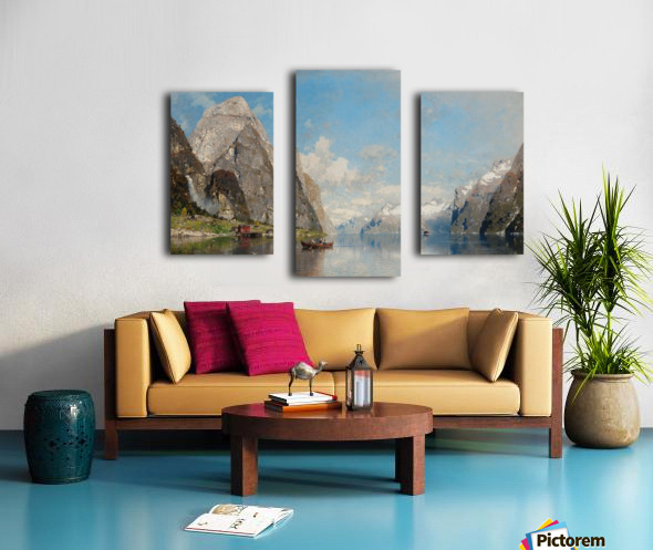 View of a Fjord Canvas print