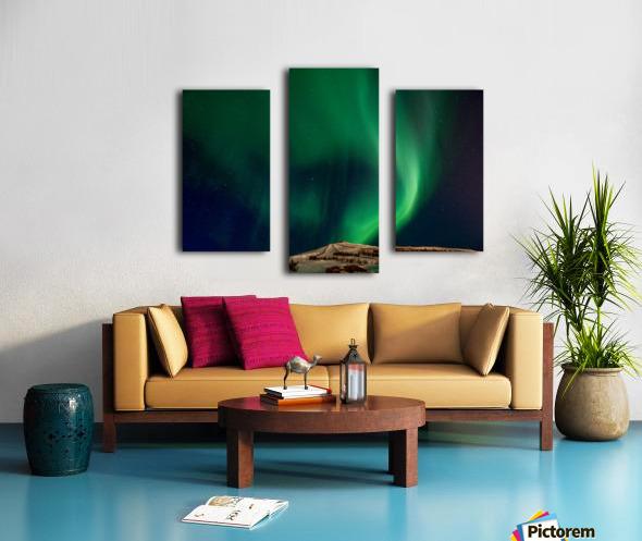 Aurora swirl Canvas print