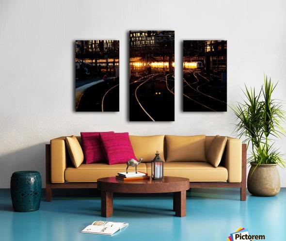 Golden train Canvas print
