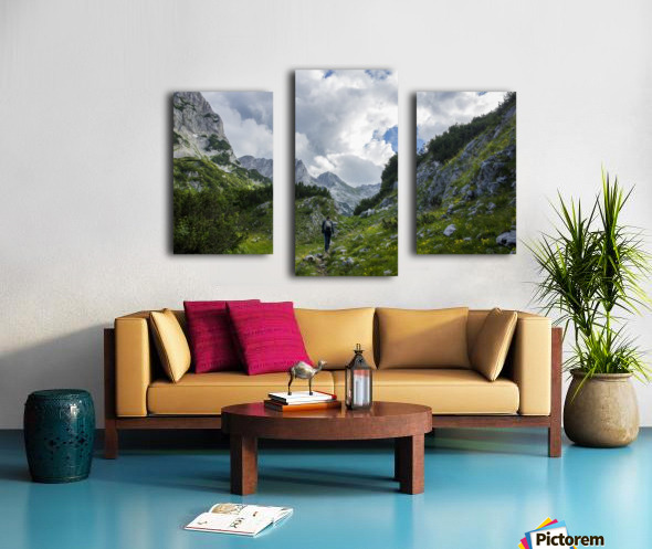 Lonely track Canvas print